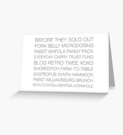 Hipster Ipsum Greeting Card