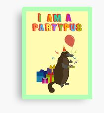 A platypus who loves to party Canvas Print