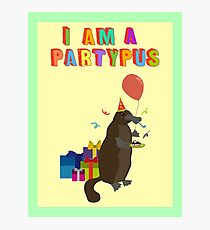 A platypus who loves to party Photographic Print