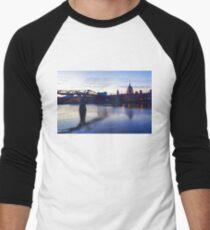 Impressions of London in Purple Men's Baseball ¾ T-Shirt