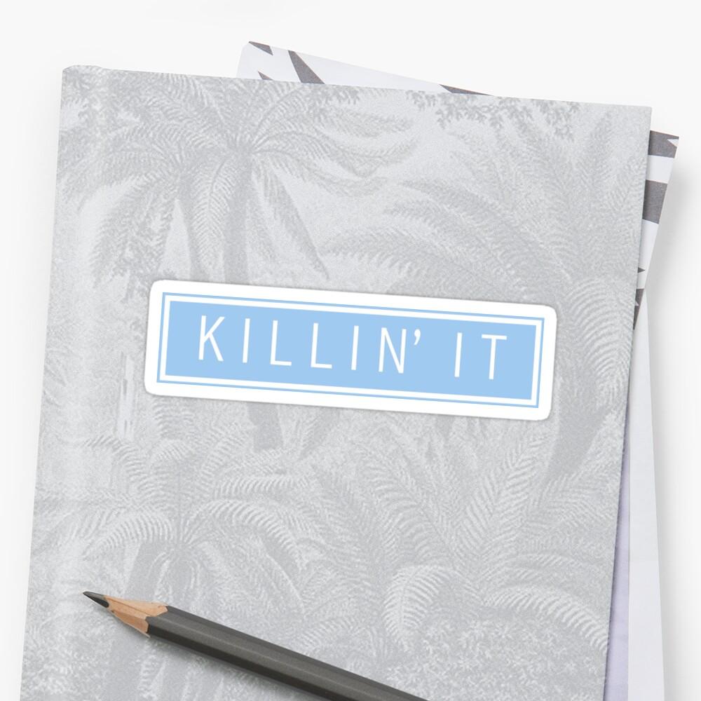 tötet es - Pastellblau Sticker