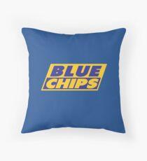 BLUE CHIPS Throw Pillow