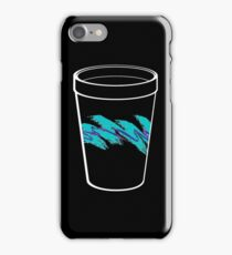 Solo Jazz Cup 90s Pattern - With Cup (black) iPhone Case/Skin