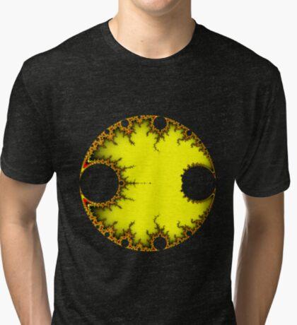 Mandelbrot Orb Yellow Tri-blend T-Shirt
