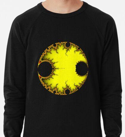 Mandelbrot Orb Yellow Lightweight Sweatshirt