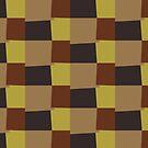 Retro Color Modern Geometric Pattern #7 by Nhan Ngo
