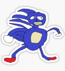 Sanic Meme - Gotta go fast  Sticker