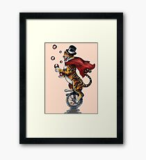 Juggling Tiger Framed Print