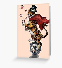 Juggling Tiger Greeting Card