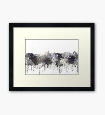 Geelong, Victoria, Australia Skyline - CRISP Framed Print