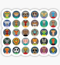Animal faces design Sticker