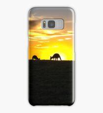Silhouette of Kangaroos at  Sunset Samsung Galaxy Case/Skin