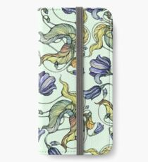 vintage floral pattern watercolor drawing iPhone Wallet/Case/Skin