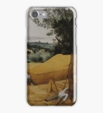 Pieter Bruegel the Elder - The Harvesters . Landscape , Autumn iPhone Case/Skin
