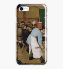 Pieter Bruegel the Elder - Peasant Wedding 1569 iPhone Case/Skin