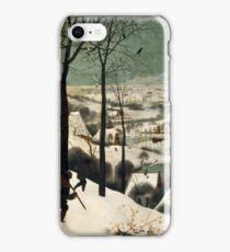 Pieter Bruegel the Elder - Hunters in the Snow Winter  iPhone Case/Skin