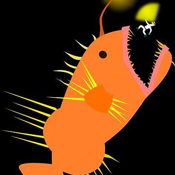 Weltraum-Anglerfisch von Upbeat