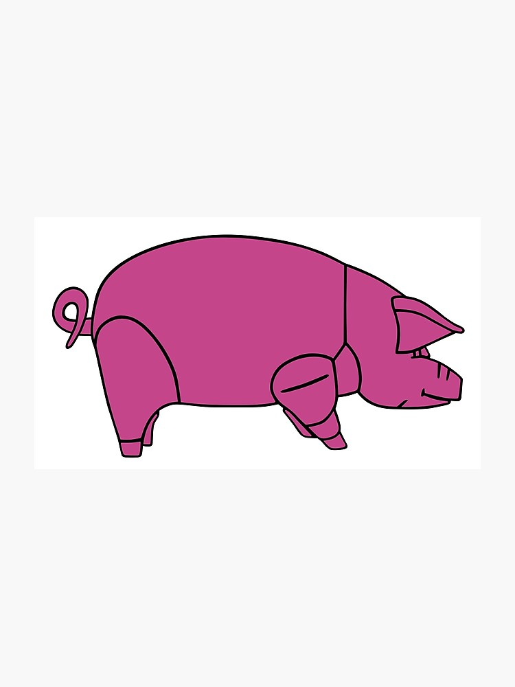 Pink Floyd Animals Pig (traditional colour) | Photographic Print