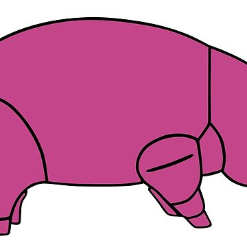 Pink Floyd Animals Pig (traditional colour) by lokiblueguitar