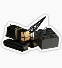 Lego Construction 3D Crane Sticker