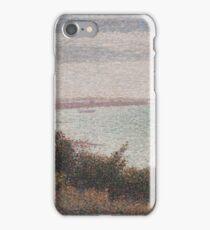 Georges Seurat  - Grandcamp, Evening 1885 iPhone Case/Skin