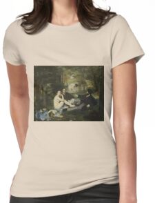 Edouard Manet - Luncheon on the Grass 1863 , French  Impressionism ,  Landscape  Womens Fitted T-Shirt