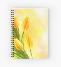 Tulips In Yellow Spiral Notebook