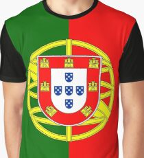 Portugal/Portuguese Flag Graphic T-Shirt