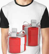 two red gift boxes with white ribbon  Graphic T-Shirt