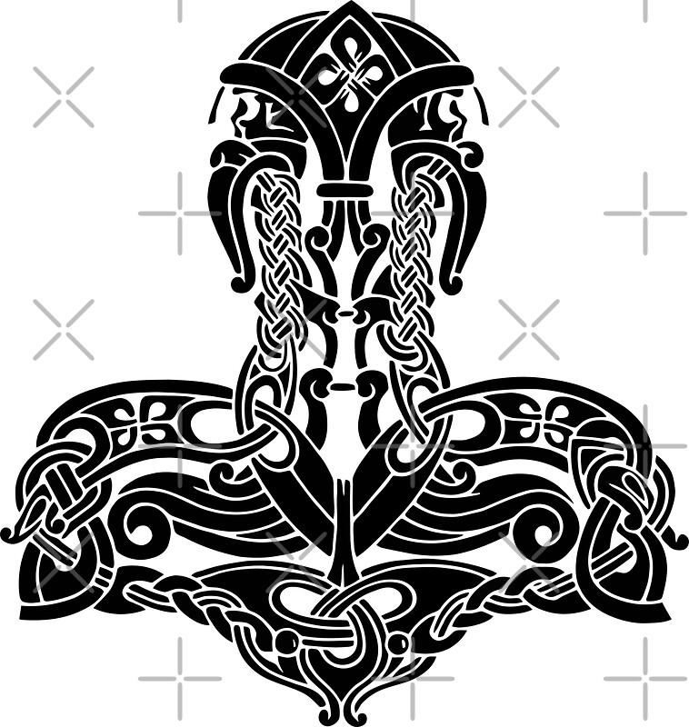 quot thor s hammer mj 246 lnir amulet symbol quot stickers by