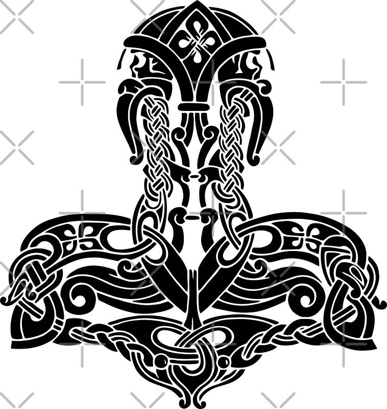 quot thor 39 s hammer mjölnir amulet symbol quot stickers by