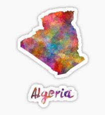 Algeria in watercolor Sticker