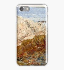 Childe Hassam - Cliff Rock - Appledore ,  American  Impressionism Seascape Marine iPhone Case/Skin