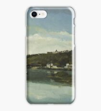 Camille Pissarro - The Marne at Chennevieres 1864  French Impressionism Landscape iPhone Case/Skin