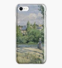 Camille Pissarro - Sunlight on the Road, Pontoise 1874 French Impressionism Landscape iPhone Case/Skin