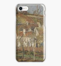 Camille Pissarro - Red roofs, corner of a village, winter 1877 French Impressionism Landscape iPhone Case/Skin