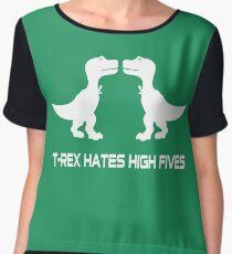 T-Rex Hates High Fives Women's Chiffon Top