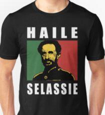 Haile Selassie WHT T-Shirt