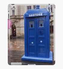 Glasgow, Scotland Blue police box  iPad Case/Skin