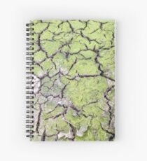 environmental concept, Water shortage and drought Dry cracked mud Spiral Notebook