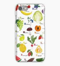 English alphabet with fruit and vegetables iPhone Case/Skin