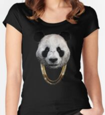 Panda_Large Women's Fitted Scoop T-Shirt
