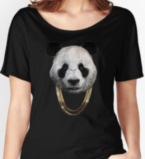 Panda_Large Women's Relaxed Fit T-Shirt