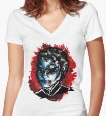 Solidus: Operation Art Women's Fitted V-Neck T-Shirt