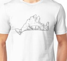 17th Century Martha's Vineyard Map Unisex T-Shirt
