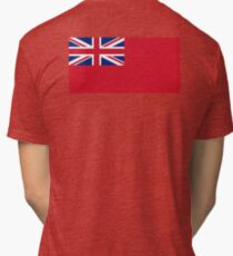 Red Ensign, NAVY, Merchant Navy, Flag, Red Duster, Royal Navy Flag,  Tri-blend T-Shirt