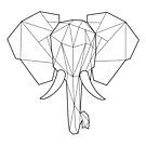 Wired Faceted Elephant by dotsan
