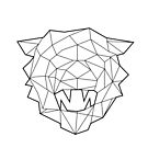 Wire Faceted Tiger by dotsan