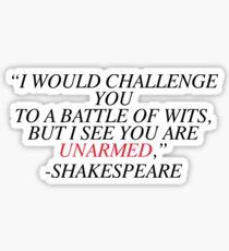 Pegatina Shakespeare-Batalla de ingenios