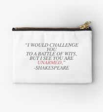 Shakespeare-Battle of Wits Studio Pouch